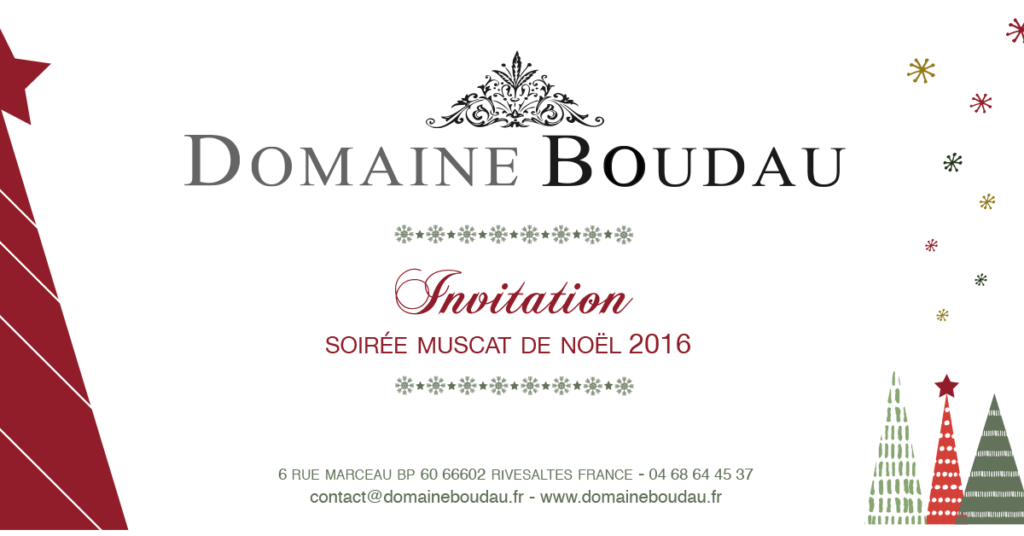 Domaine Boudau - Cartin Invitation Noël 2016 Recto